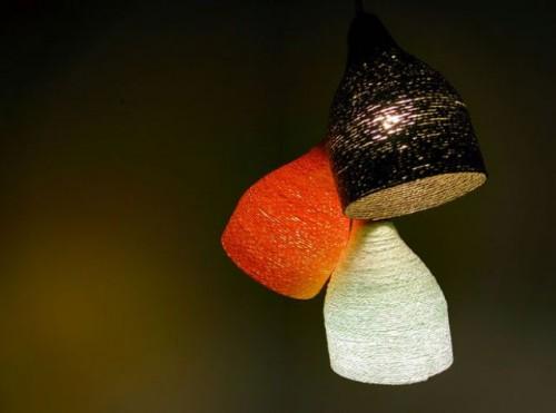 Cozy DIY Paper Yarn Lamp