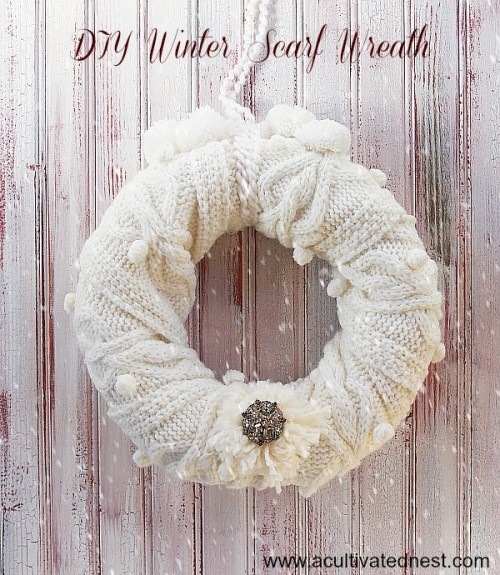 Cozy DIY Winter Scarf Wreath