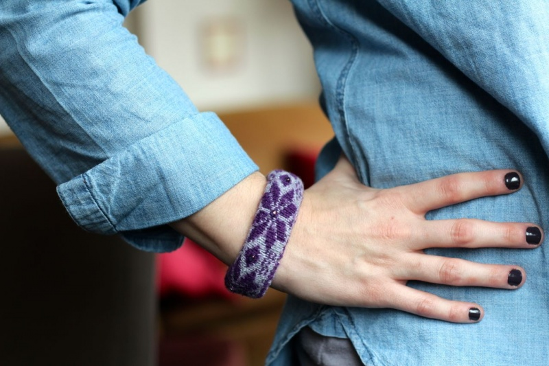 Cozy Diy Winter Sock Bracelet