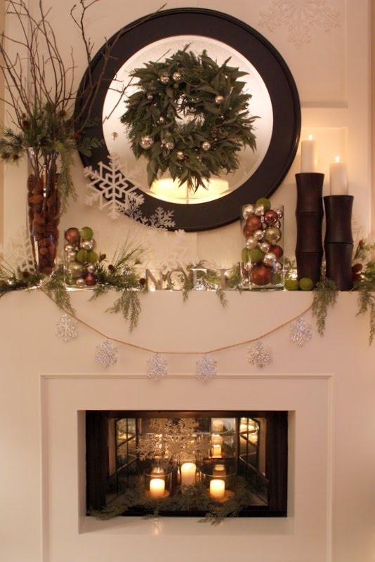 Picture Of Cozy Winter Mantle Decor Ideas
