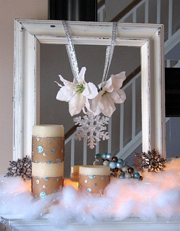 Picture Of Cozy Winter Mantle Decor Ideas