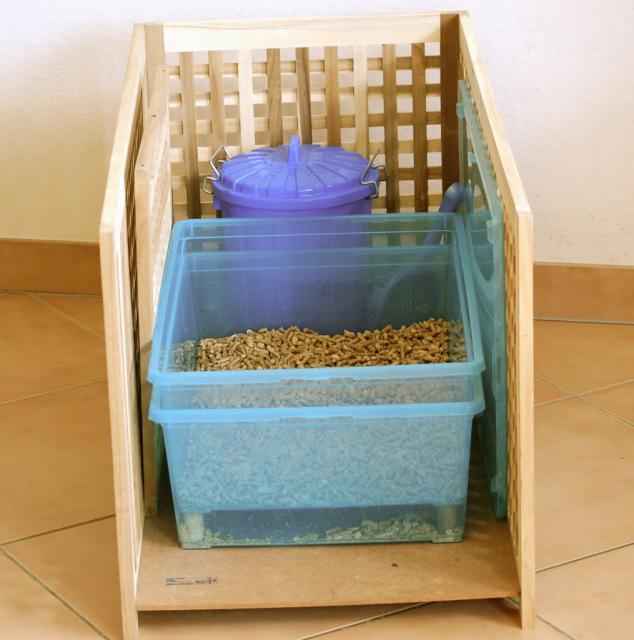 wood pellet litter box