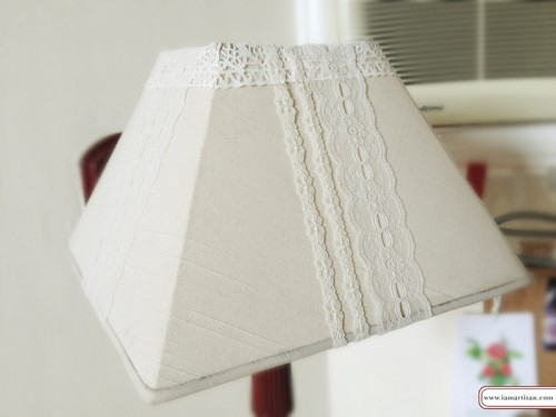 dressed up wall lamp (via iamartisan)