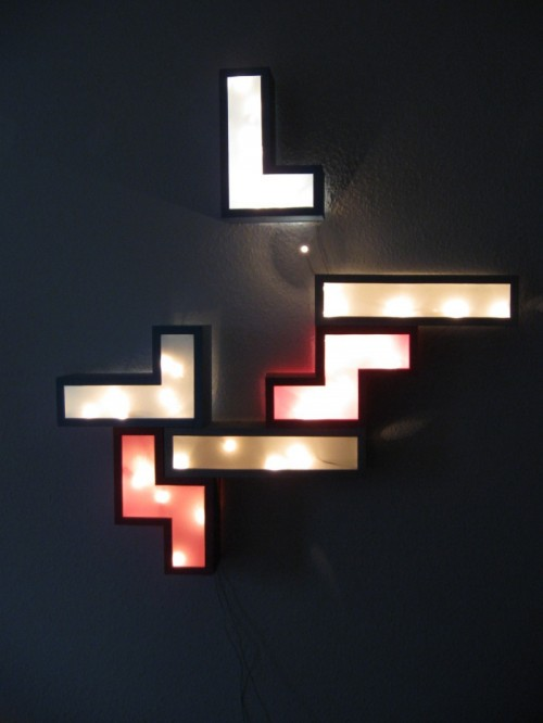 tetris wall lamp