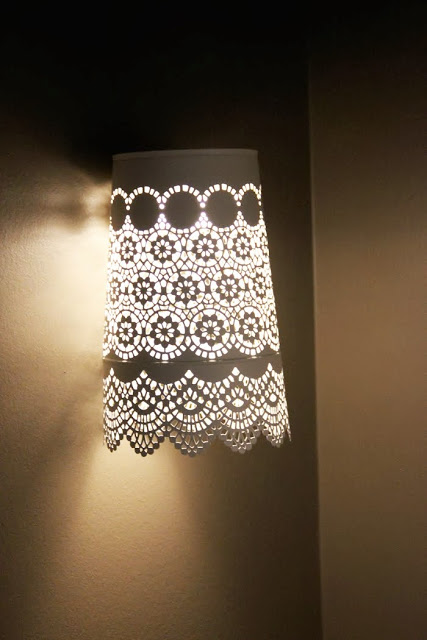 wall l& of an IKEA planter (via shelterness) & 11 Creative And Eye-Catching DIY Wall Lamps In Various Styles ...