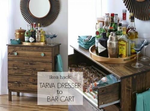Tarva hack into a bar cart (via myfabulesslife)