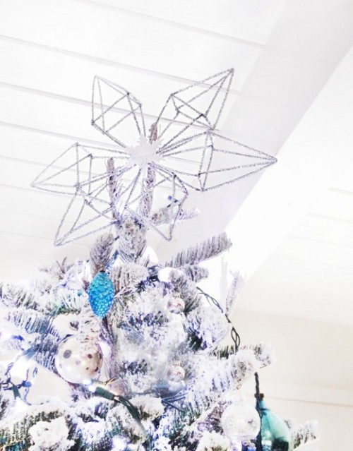 pipe cleaners tree topper (via shelterness)