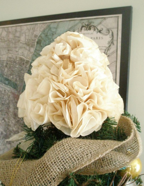 coffee filter tree topper (via adorbymelissa)