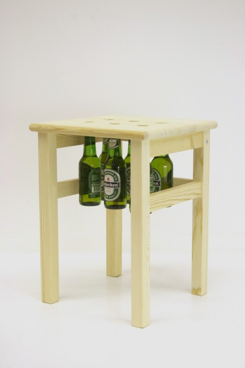 Creative Chair With a Beer Storage And a Bottle Opener
