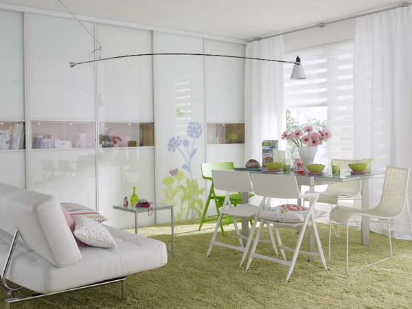 Creative Combo Of A Living And Dining Rooms