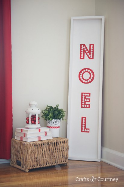NOEL Christmas sign (via craftsbycourtney)