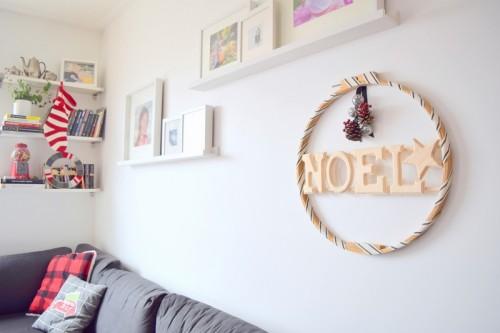 Creative DIY Holiday Wreath Of A Hoop
