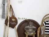 rustic wooden poles coat hanger