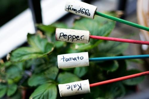 easy cork plant markers (via allputtogether)