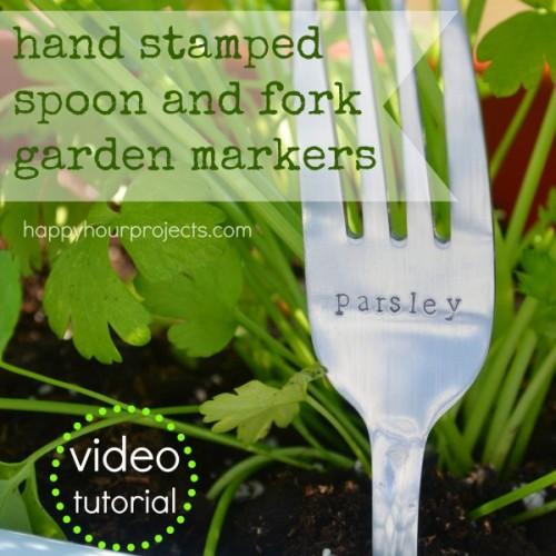 fork garden markers (via happyhourprojects)