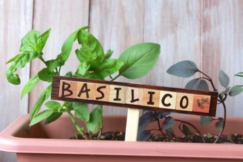 wooden plant markers (via alyssaandcarla)