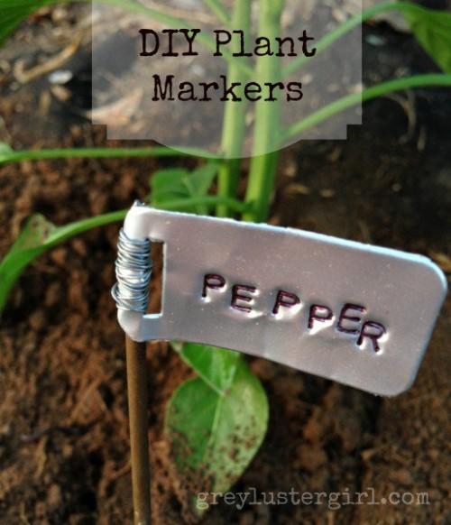 metal plant markers (via greylustergirl)