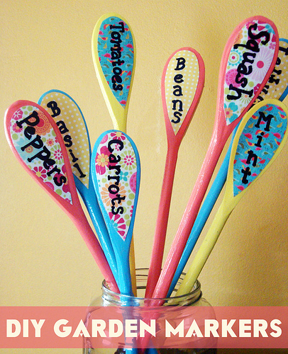 colorful garden markers