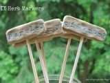 clay plant markers