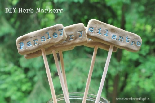 clay plant markers (via contemporarydomestics)