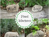 rock plant markers