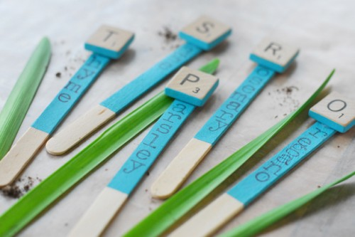 letter tile markers (via ehow)