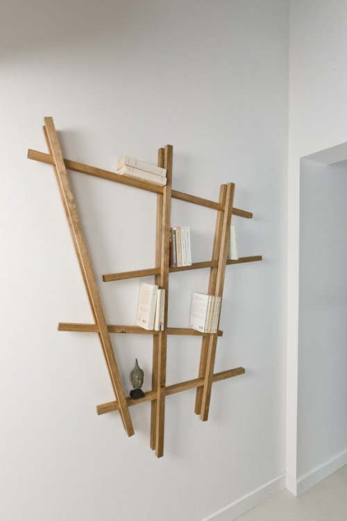 Creative DIY Grid Shelf Of Wood