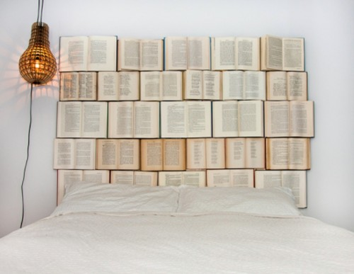 Creative DIY Headboard Of Old Books