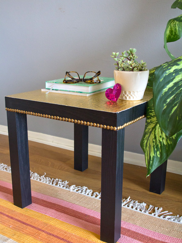 chic gold table upgrade
