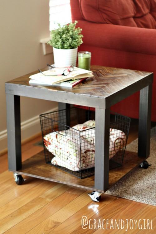 16 creative diy ikea lack table hacks for every home shelterness. Black Bedroom Furniture Sets. Home Design Ideas