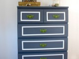 navy hack with green knobs