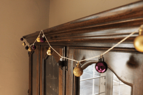 metallic bauble garland