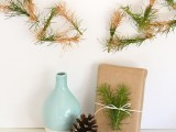 gold dipped pine garland