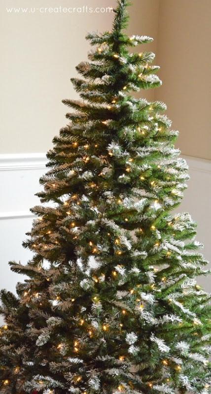 snowy Christmas tree decor