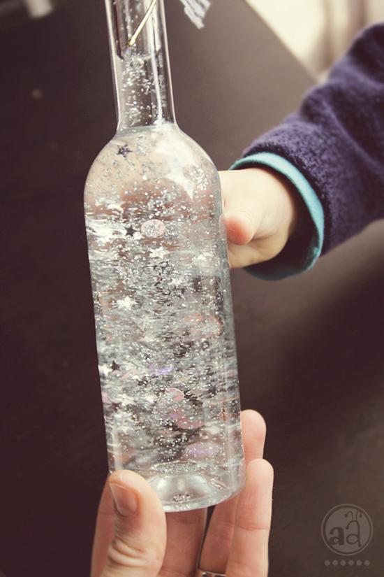 sparkling magic bottle
