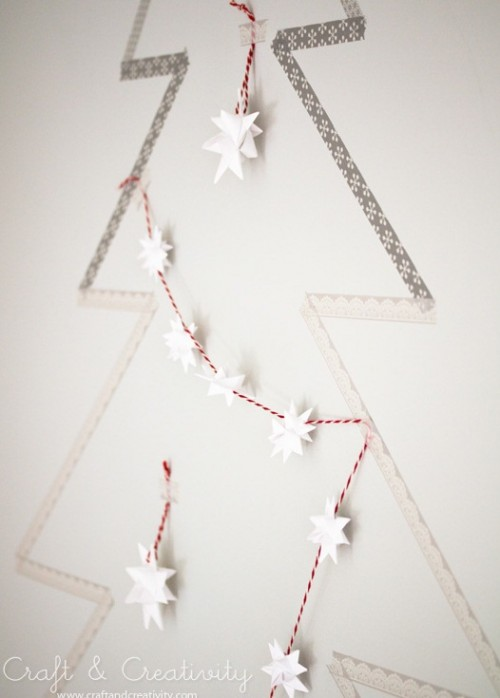 washi tape Christmas tree (via shelterness)