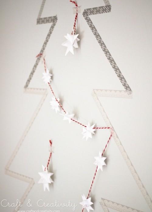 washi tape Christmas tree (via shelterness)