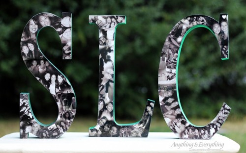 black and white photo collage letters (via myanythingandeverything)