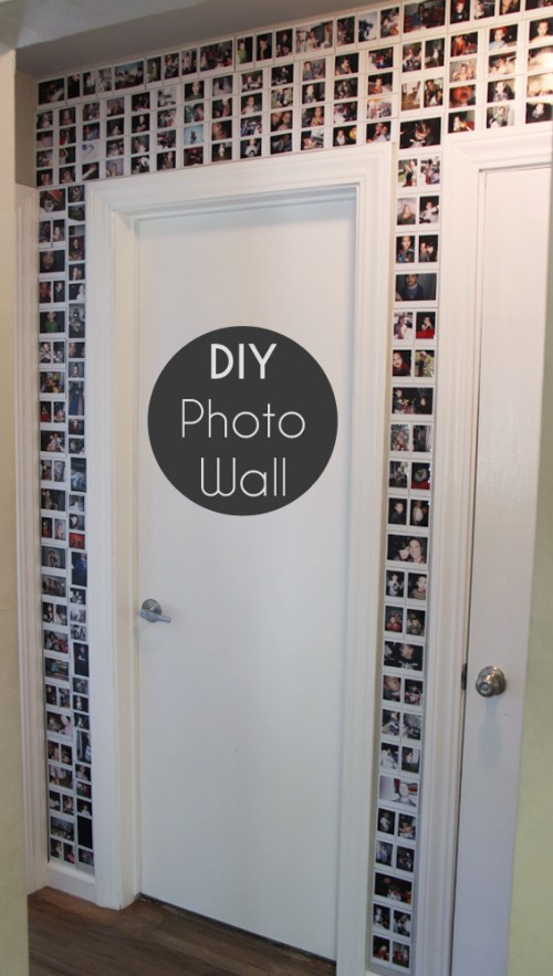Instagram photo wall (via smallfriendly)