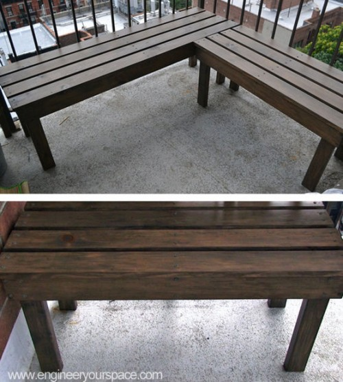 outdoor wooden bench (via instructables)
