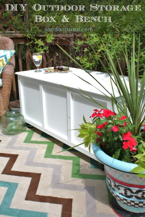 outdoor box bench (via sandandsisal)