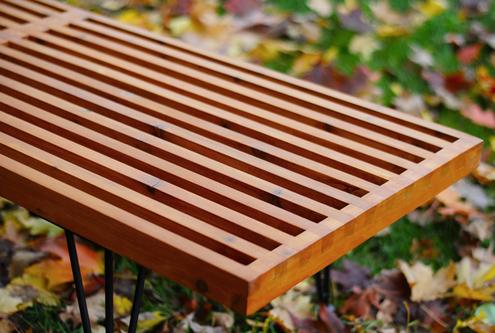 George Nelson-inspired bench (via manmadediy)