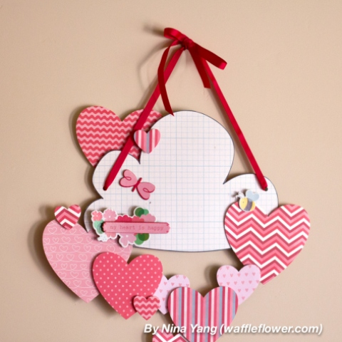 hearts wall decoration (via shelterness)