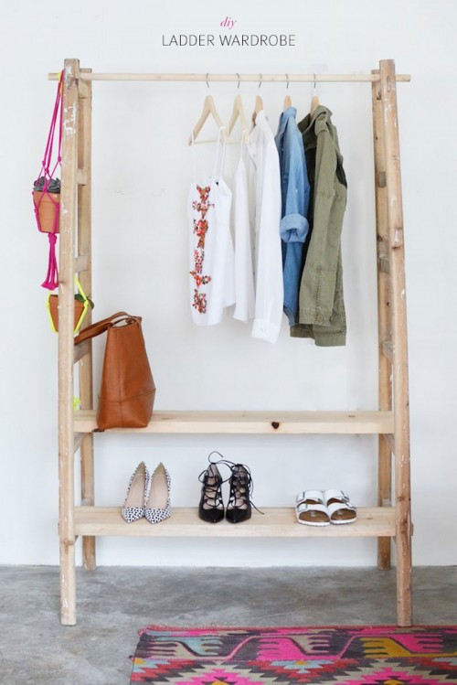 ladder wardrobe (via handimania)