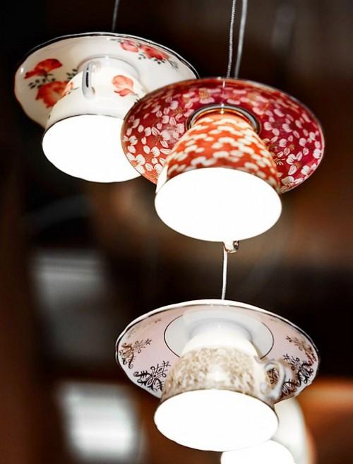 DIY porcelain kitchen lamps