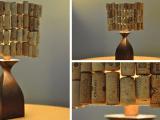 DIY wine cork lamp