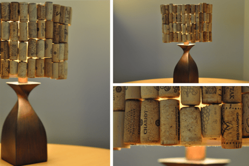 DIY wine cork lamp (via earth911)