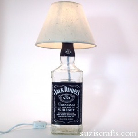 DIY liquor bottle lamps (via shelterness)