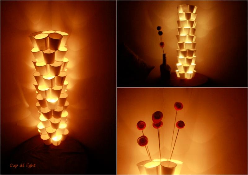 DIY cups lamp