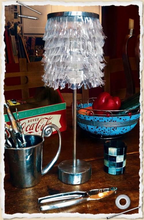 DIY coke bottle lamp